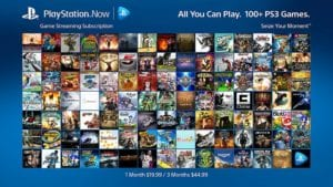 PlayStation Now game streaming