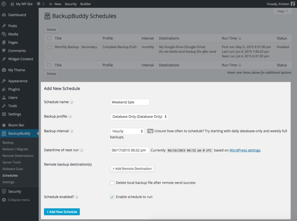 hourly-database-backup-wordpress