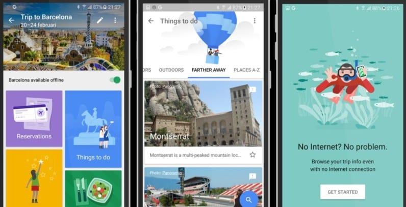travel app called Trips