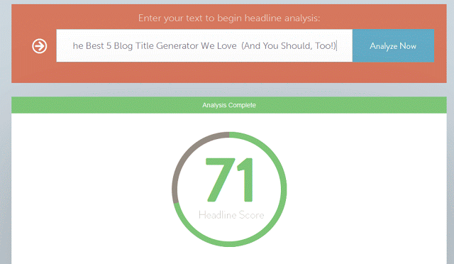 Blog Post Headline Analyzer Coschedule Blog Post Headline Analyze