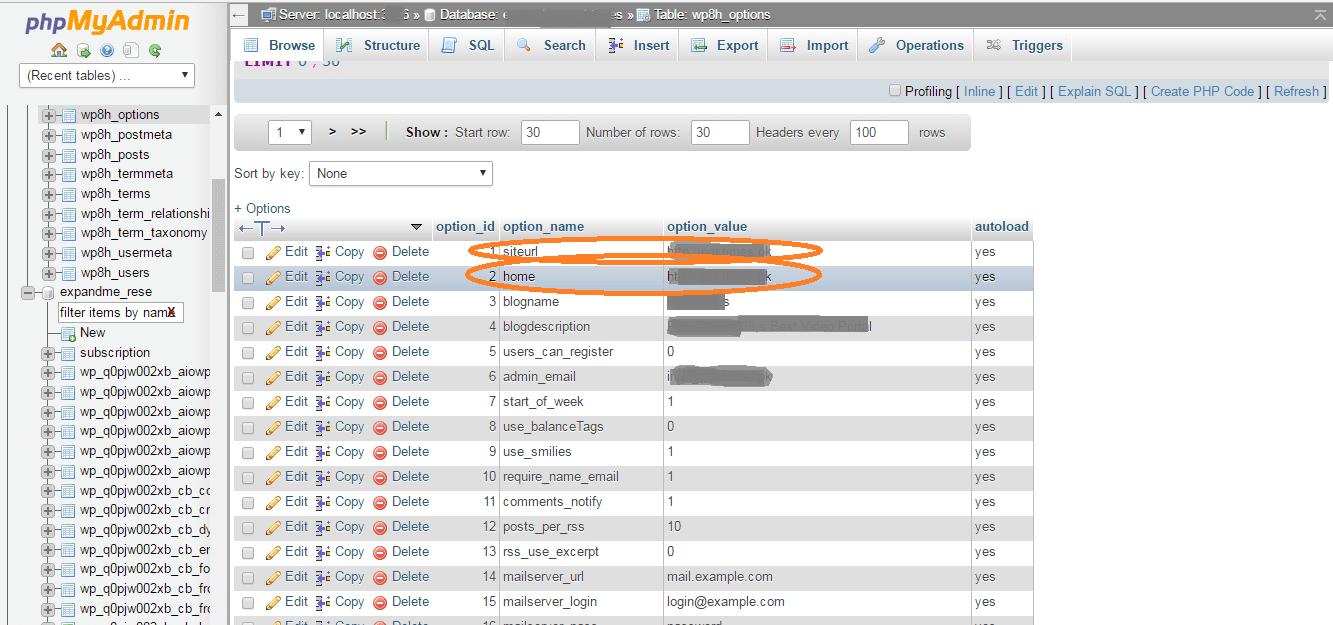 admin url not working
