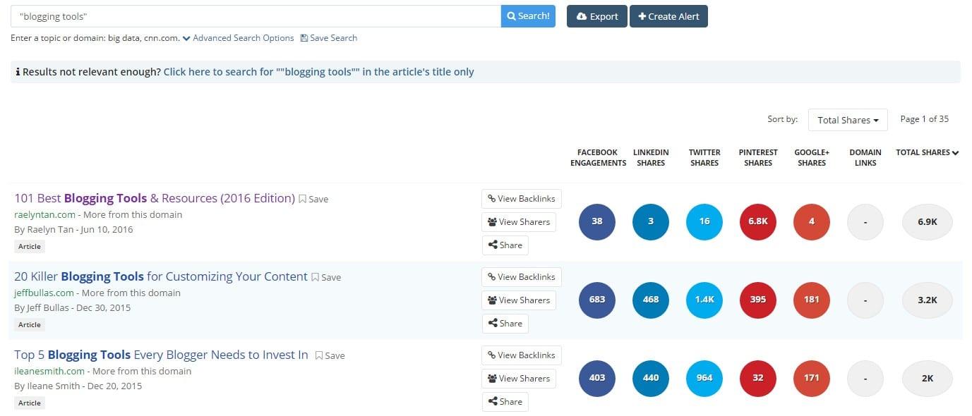 buzzsumo-3 best blogging tools