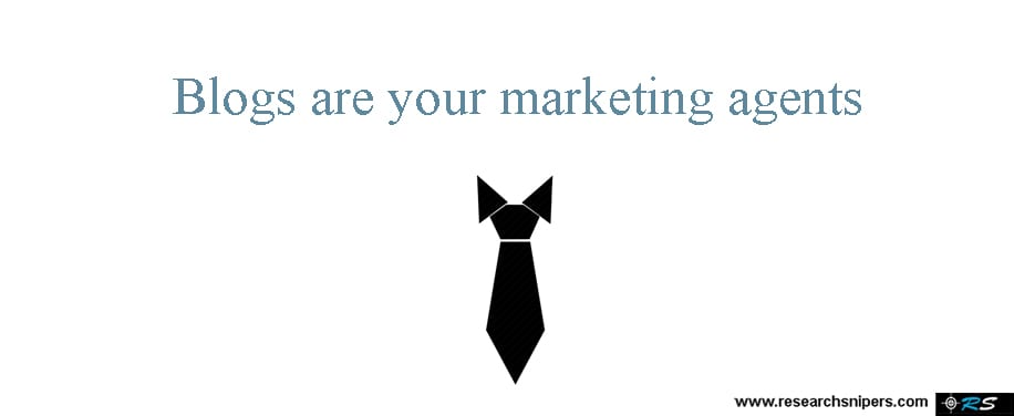 Blogs are marketing agents