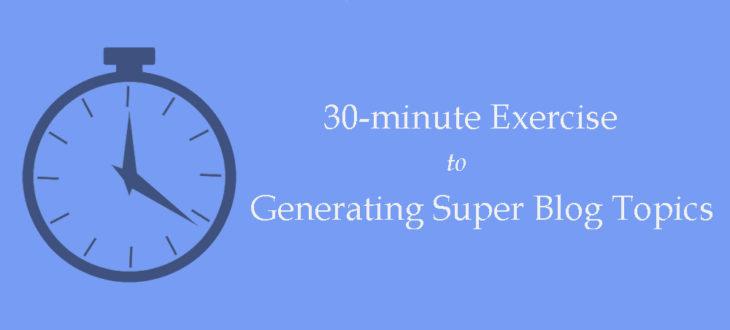 generating super blog topics