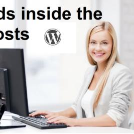 put ads inside the posts