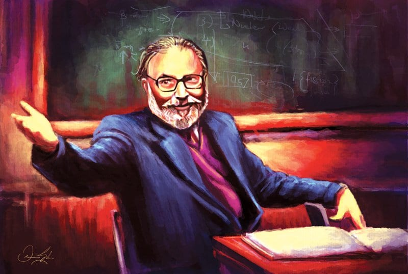 Dr. Abdus Salam by a Pakistani Graphic Artist
