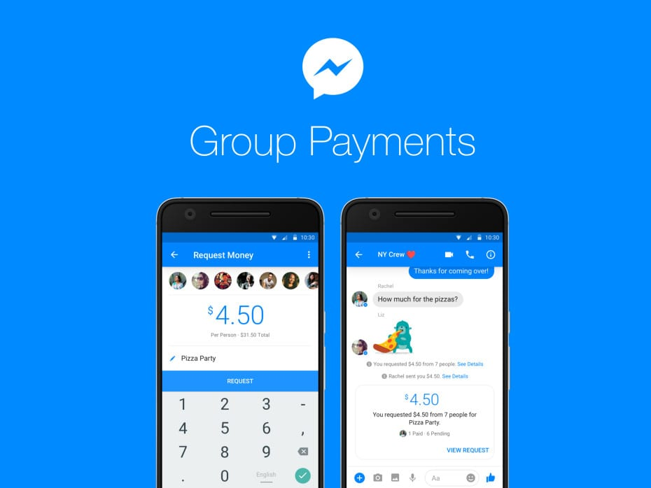 Facebook Messenger App - Group Payments Now Easier To Transfer