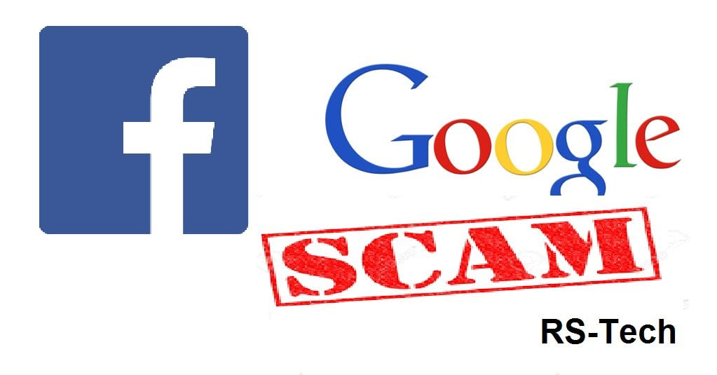 scam facebook google