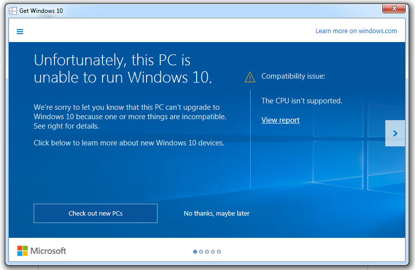 Microsoft windows 10 new version is not supported in some for Microsoft windows latest version