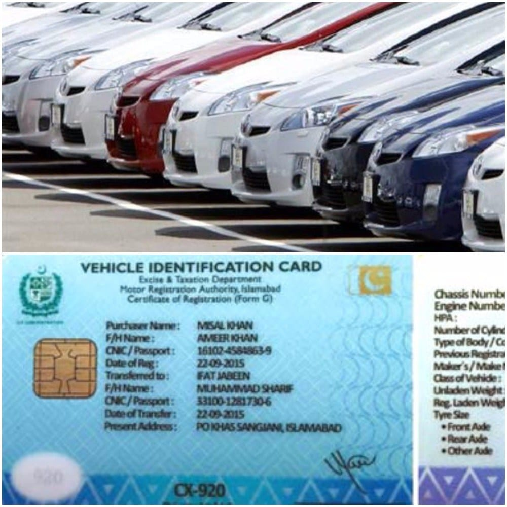 You will now be getting a smart vehicle registration card for your