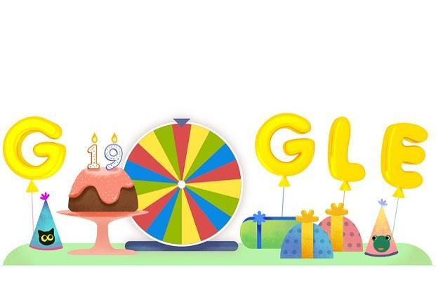 Google gives a 'spin' to its doodle on 19th birthday
