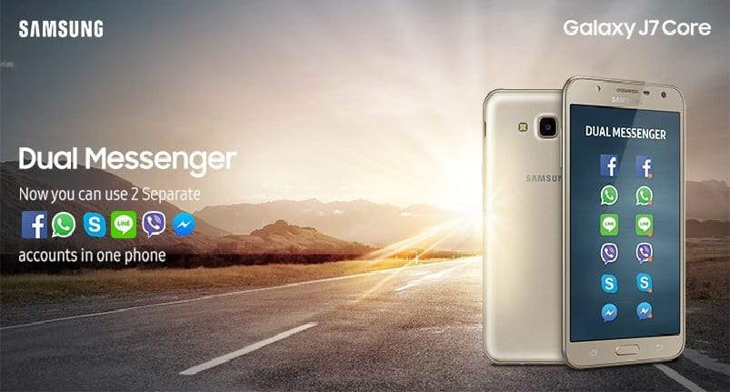 Samsung Galaxy J7 Core and J7 Pro let you use Dual