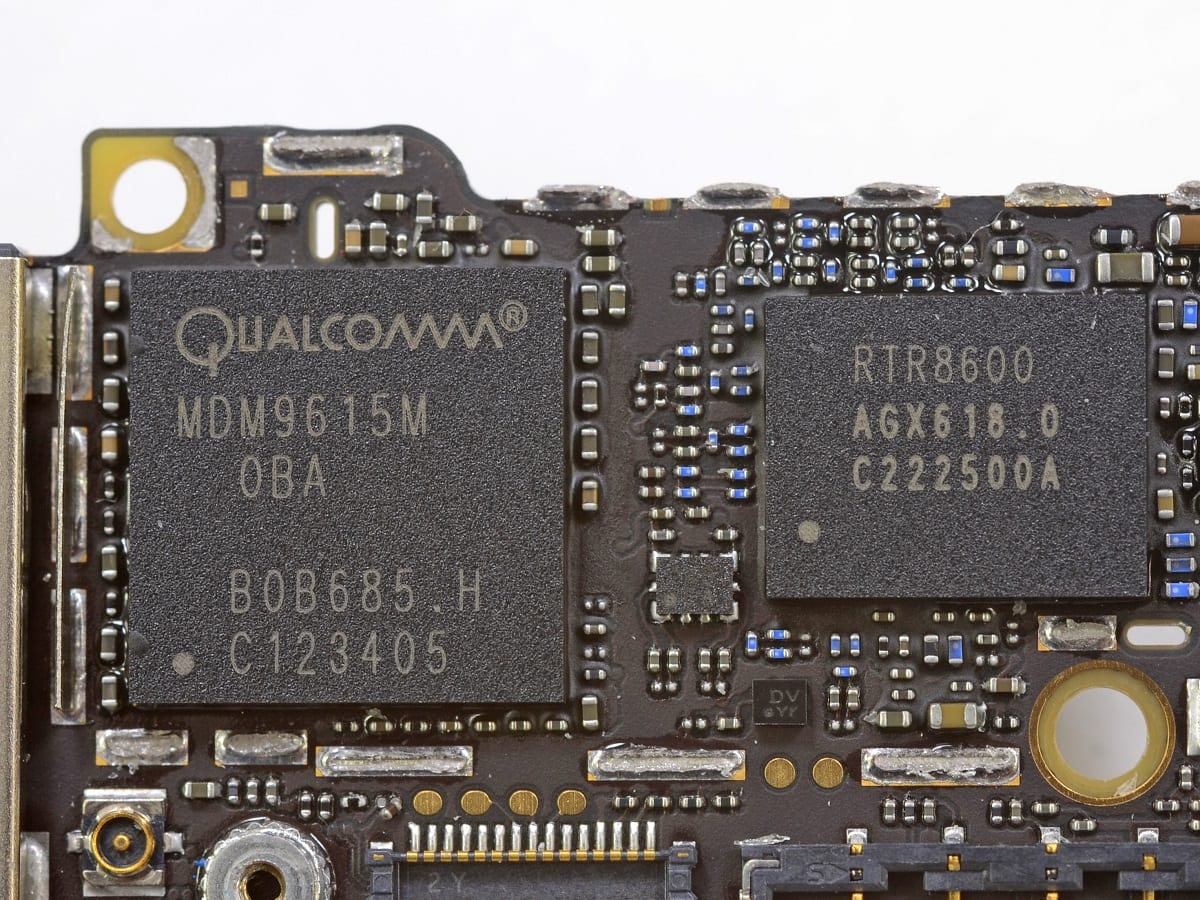 Apple may drop Qualcomm parts for iPhones, iPads