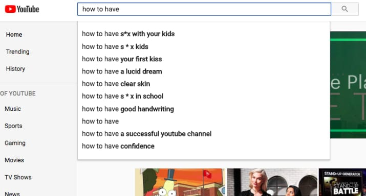 After sexualised videos of children, YouTube now returning disturbing auto-complete suggestions