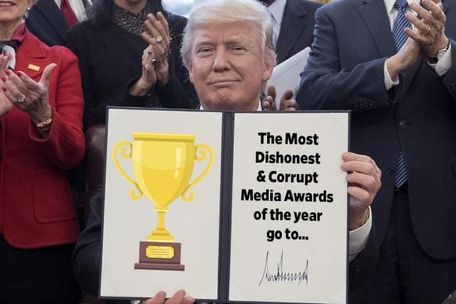 President Trump to Announce 'Fake News Media' Awards Monday
