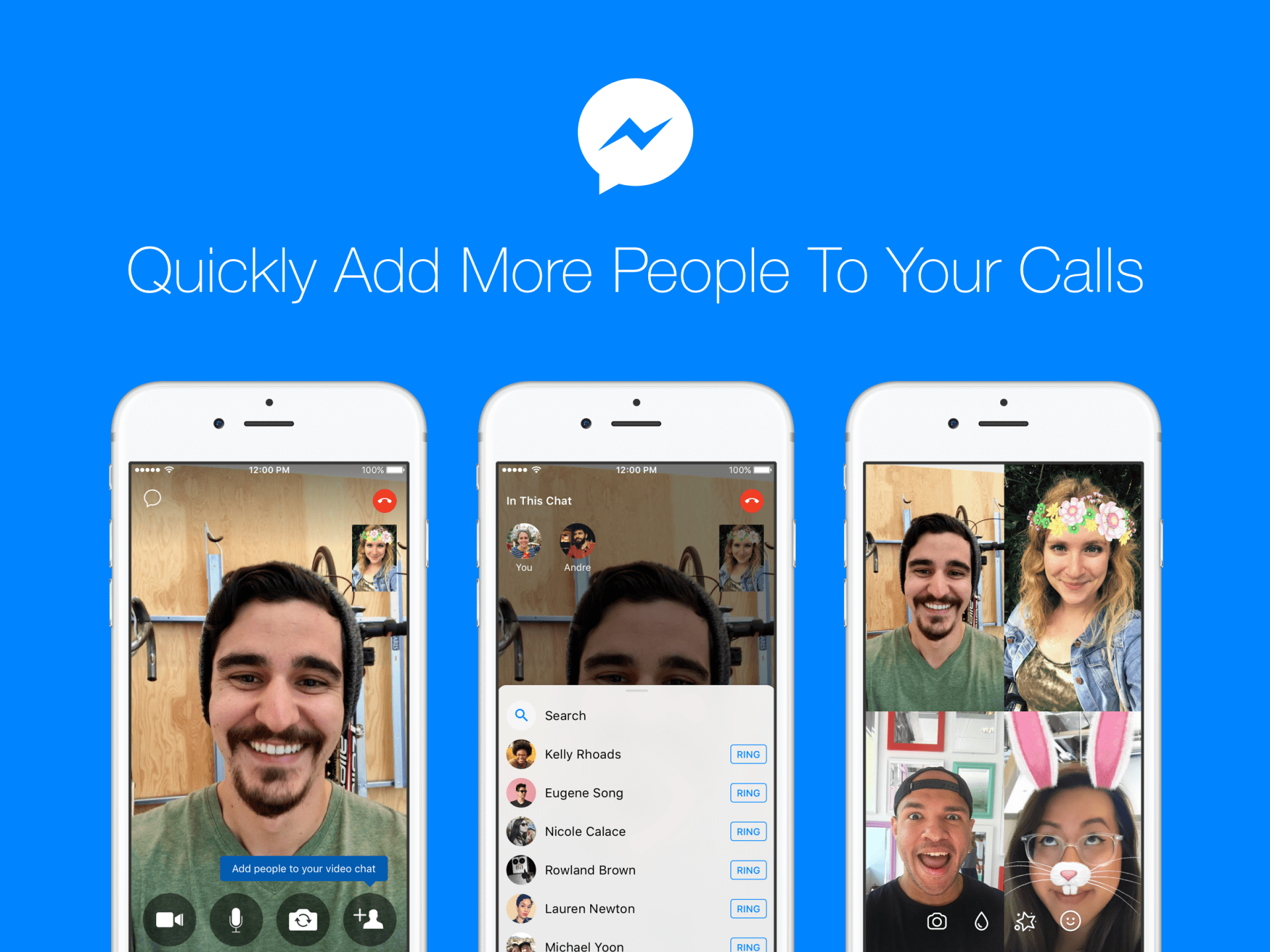 Facebook Messenger Allows Users To Add More People To Ongoing Calls