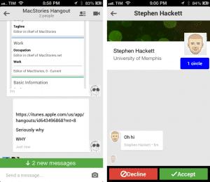 Hangouts Chat notifications