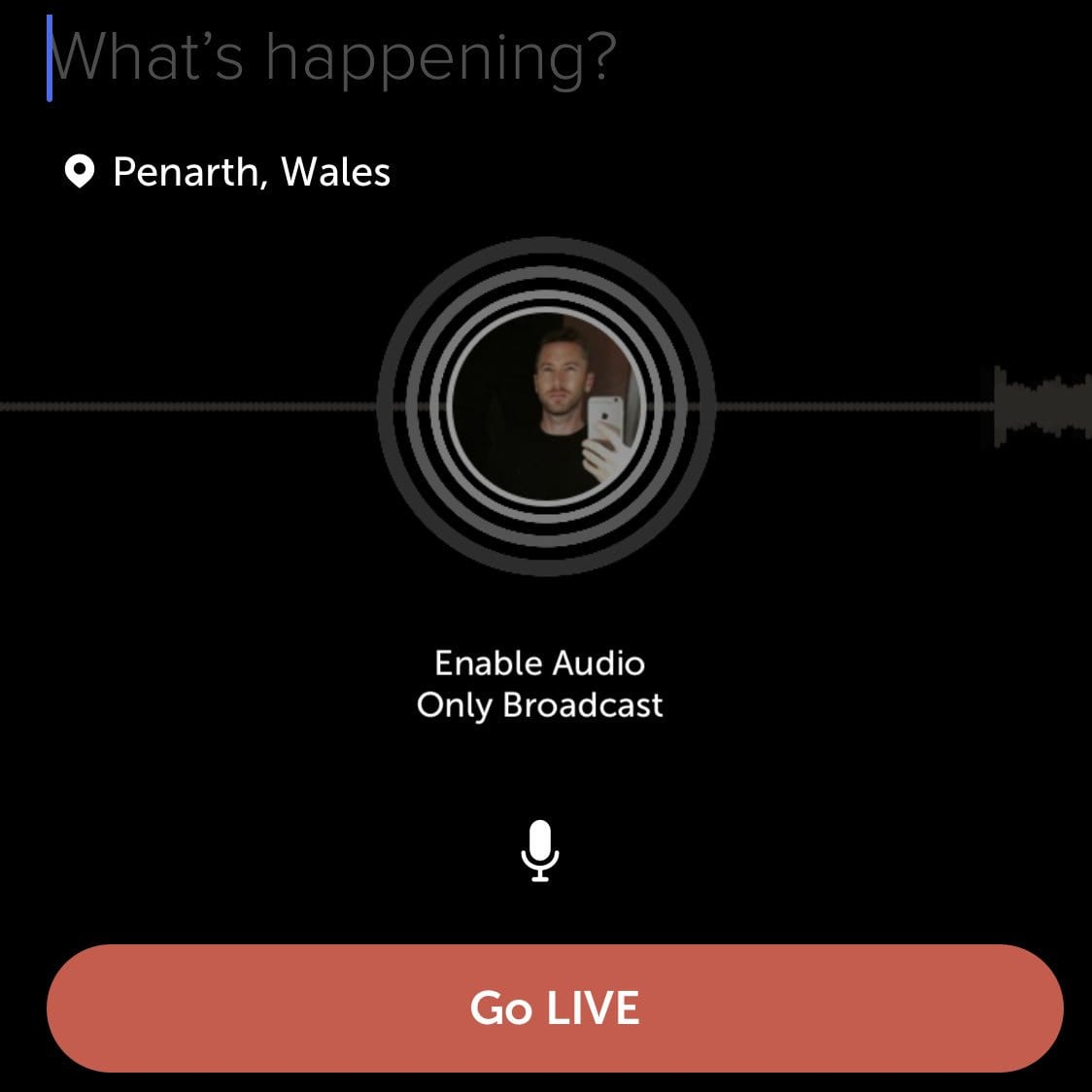 audio-only live broadcasts