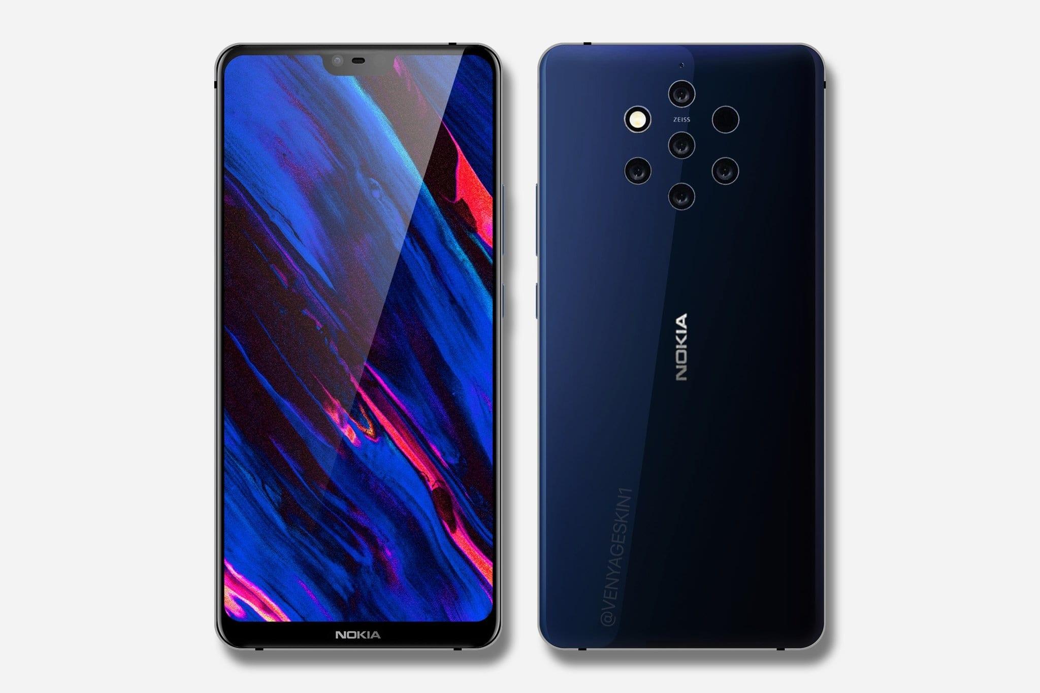 Nokia 9 2018 Penta-lens camera