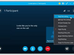 Skype call recording feature