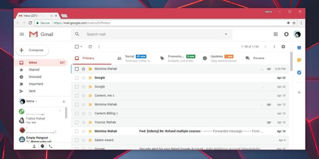 offline access to the Gmail