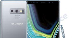 Samsung Galaxy Note 9 silver