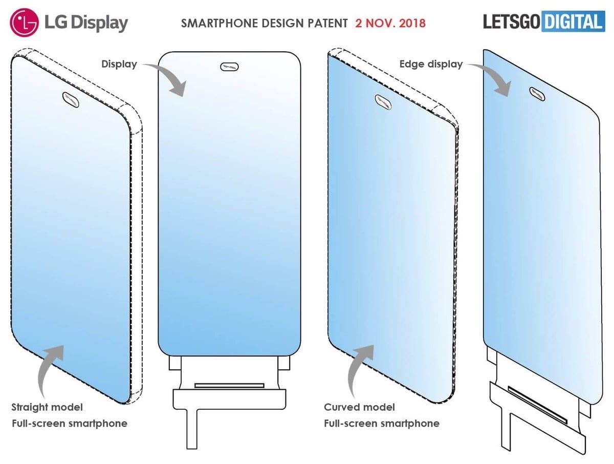 LG fullscreen smartphone patent