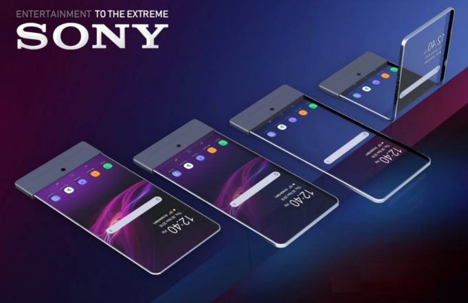 Sony foldable transparent display