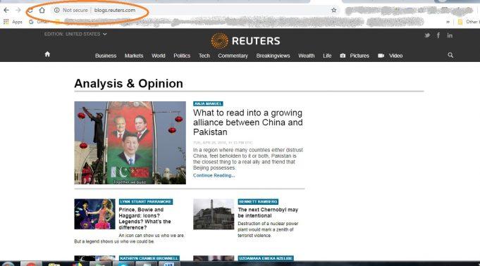 Reuters Not Secure