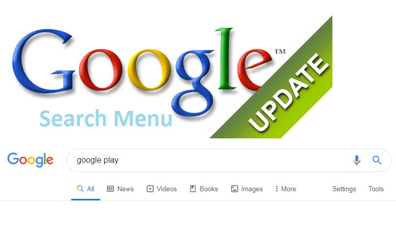 Google search menu update