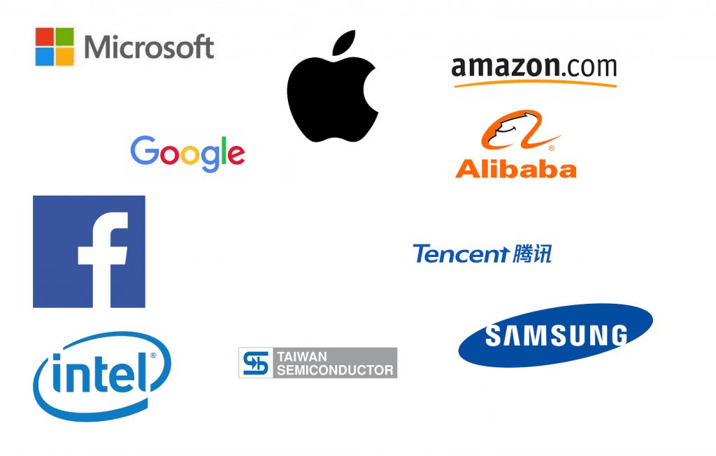 Top 10 tech giants