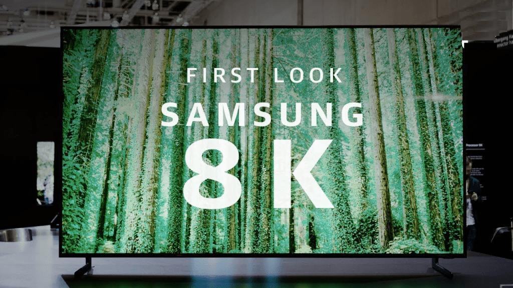 Samsung 8K TV fake