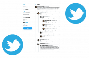 Twitter conversation tree