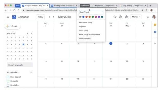 Google Tab Groups