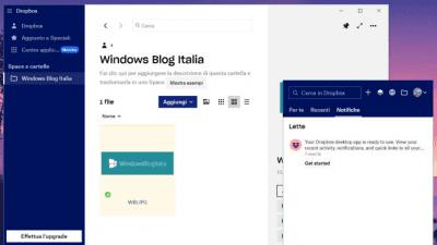 Dropbox app windows