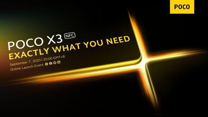Poco X3 launch date