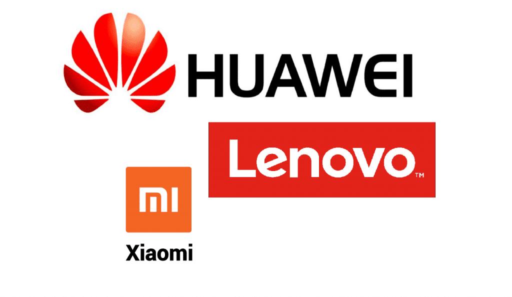 Xiaomi Huawei Lenovo