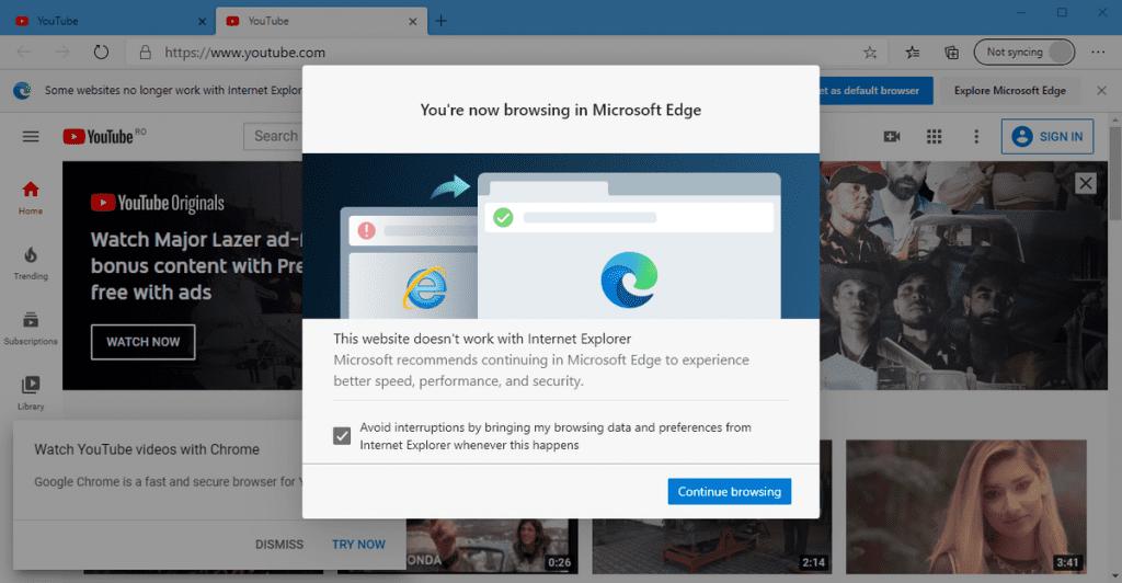 Microsoft Forced Edge