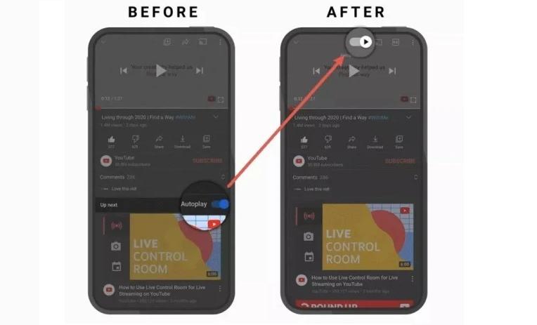 YouTube Mobile App Gestures