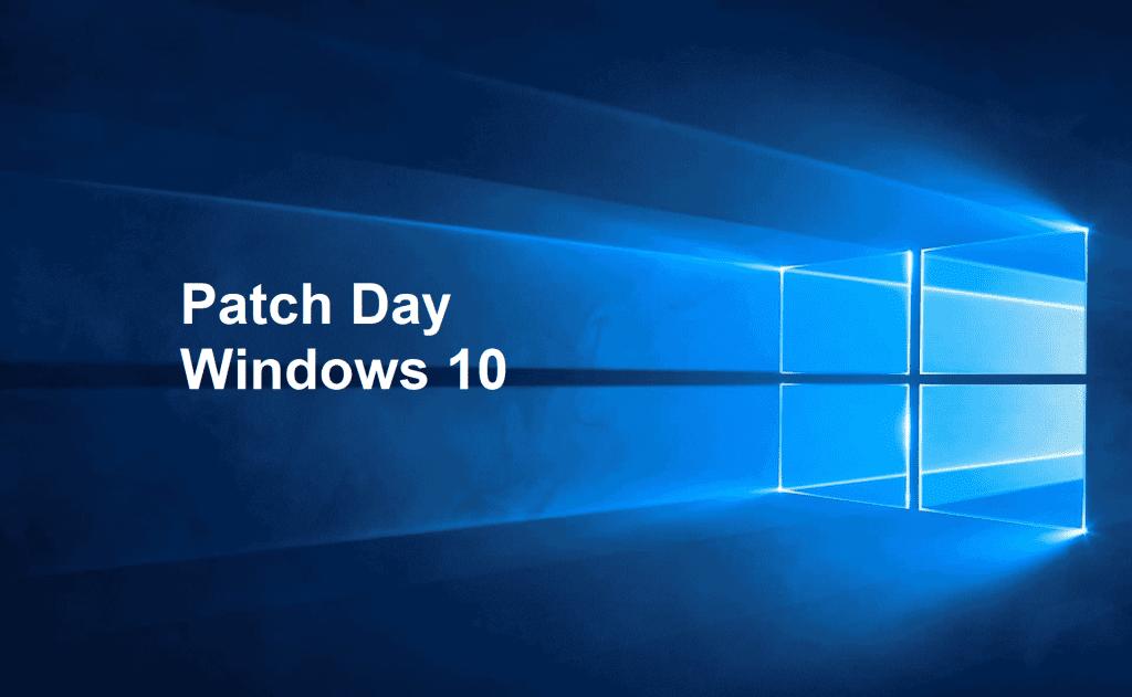 Windows 10 Patch Day