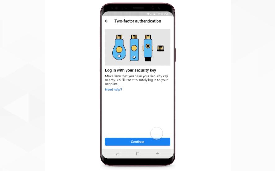 Facebook Two factor Mobiles