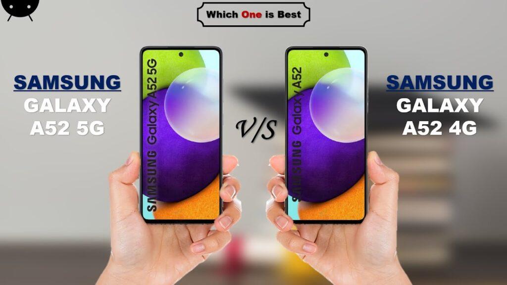 Samsung Galaxy A52 5G and Galaxy A52 5G