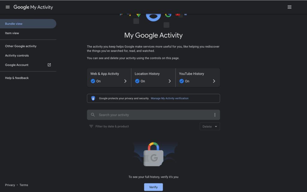 Google-My-Activity-password