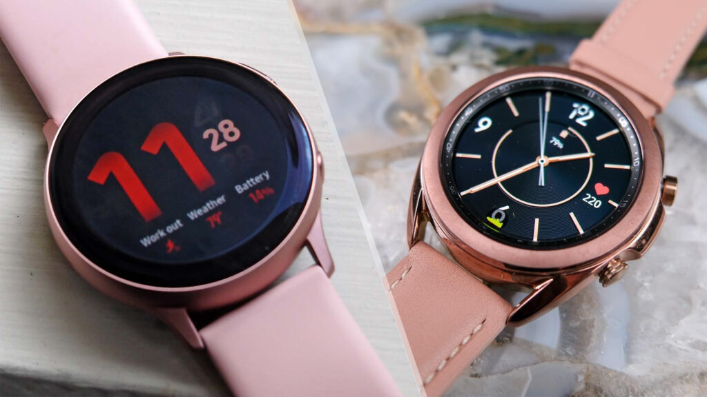 Samsung Galaxy Watch Active2 and Watch3
