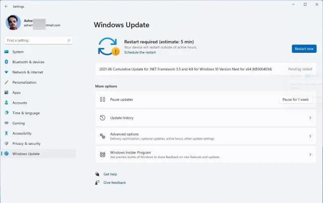 Windows updates estimated time