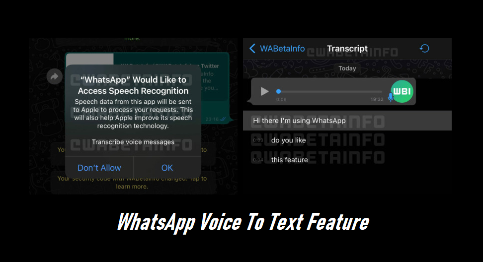 WhatsApp Voice To Text