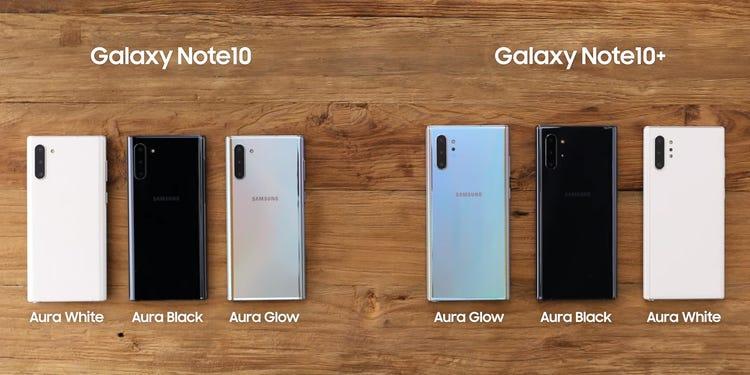 Samsung Galaxy Note 10 - Samsung Galaxy Note 10+