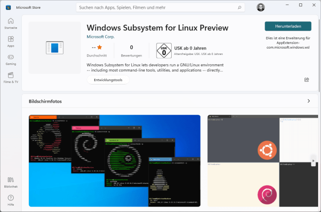 Subsystem for linux