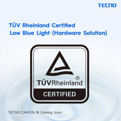 Tecno Camon 18 Premier Low Blue Light Certification